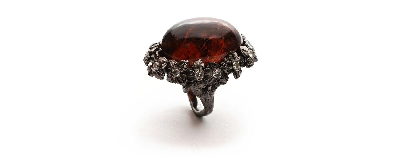Simone Mencherini Gioielli Dark Hawthorn ring