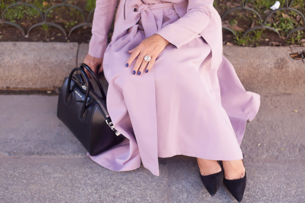Crazy about the pink coat