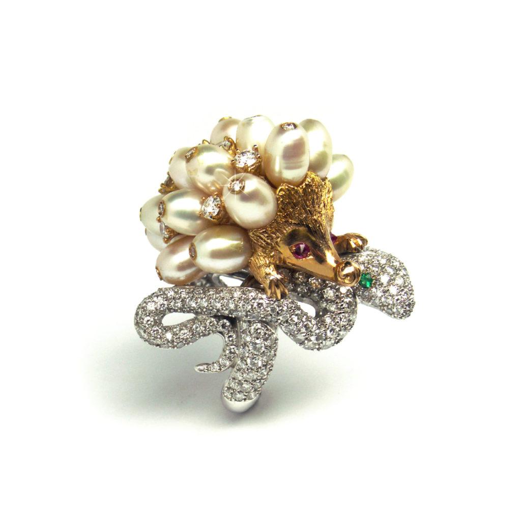 Simone Mencherini Hedgehog ring