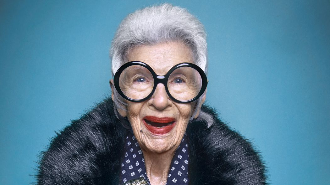Iris Apfel not only twenty blog fashion icon over forty