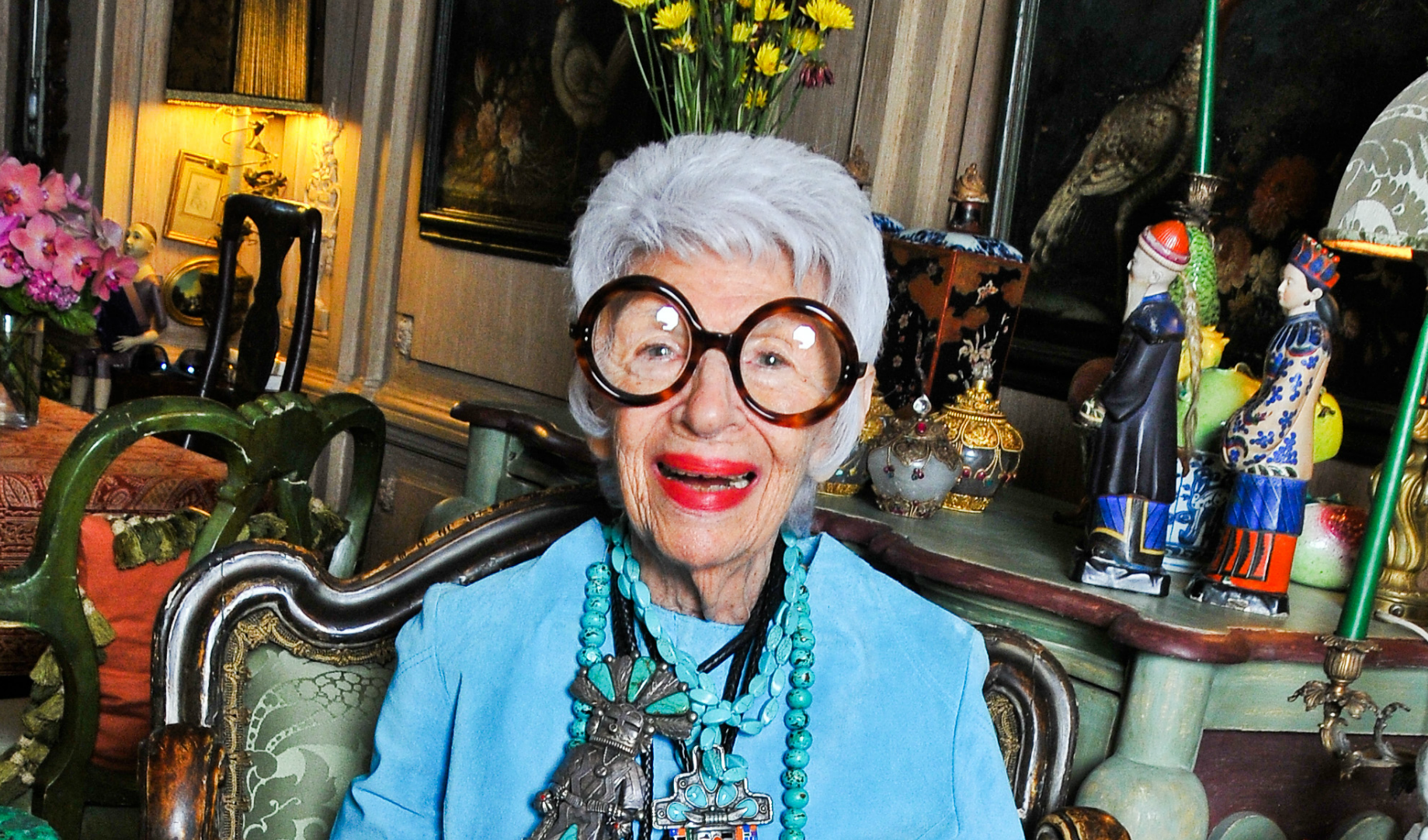 Iris Apfel not only twenty blog fashion icon over fort
