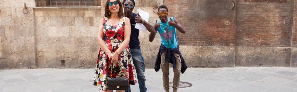 dolce gabbana flower dress - photo shooting in Siena - Not Only Twenty Fashion blog