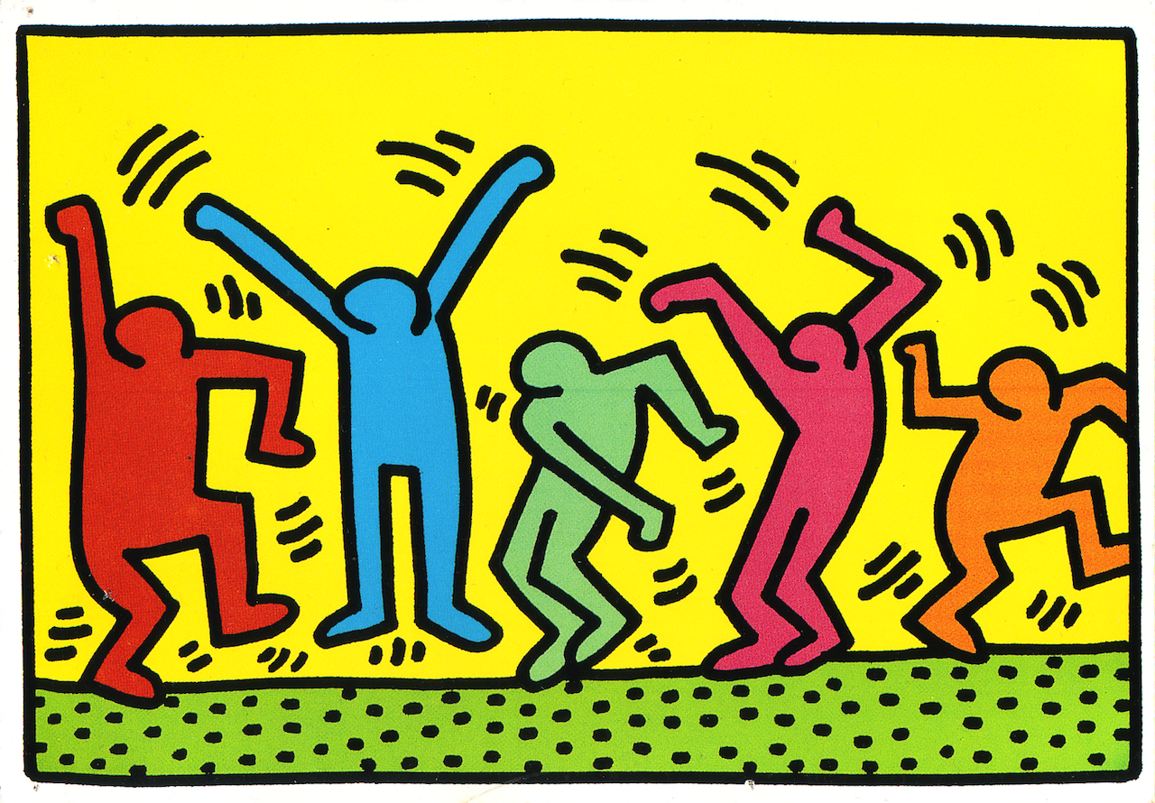 keith haring graffiti art inspiration against war, racism, homophobia and AIDS - not only twenty fashion blog
