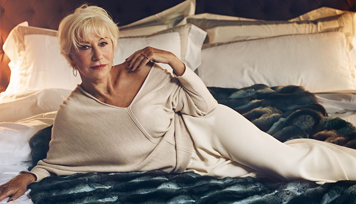 Helen Mirren, Photos by Miller Mobley via AARP The Magazine - not only twenty fashion blog over 40 fashion over 50 style