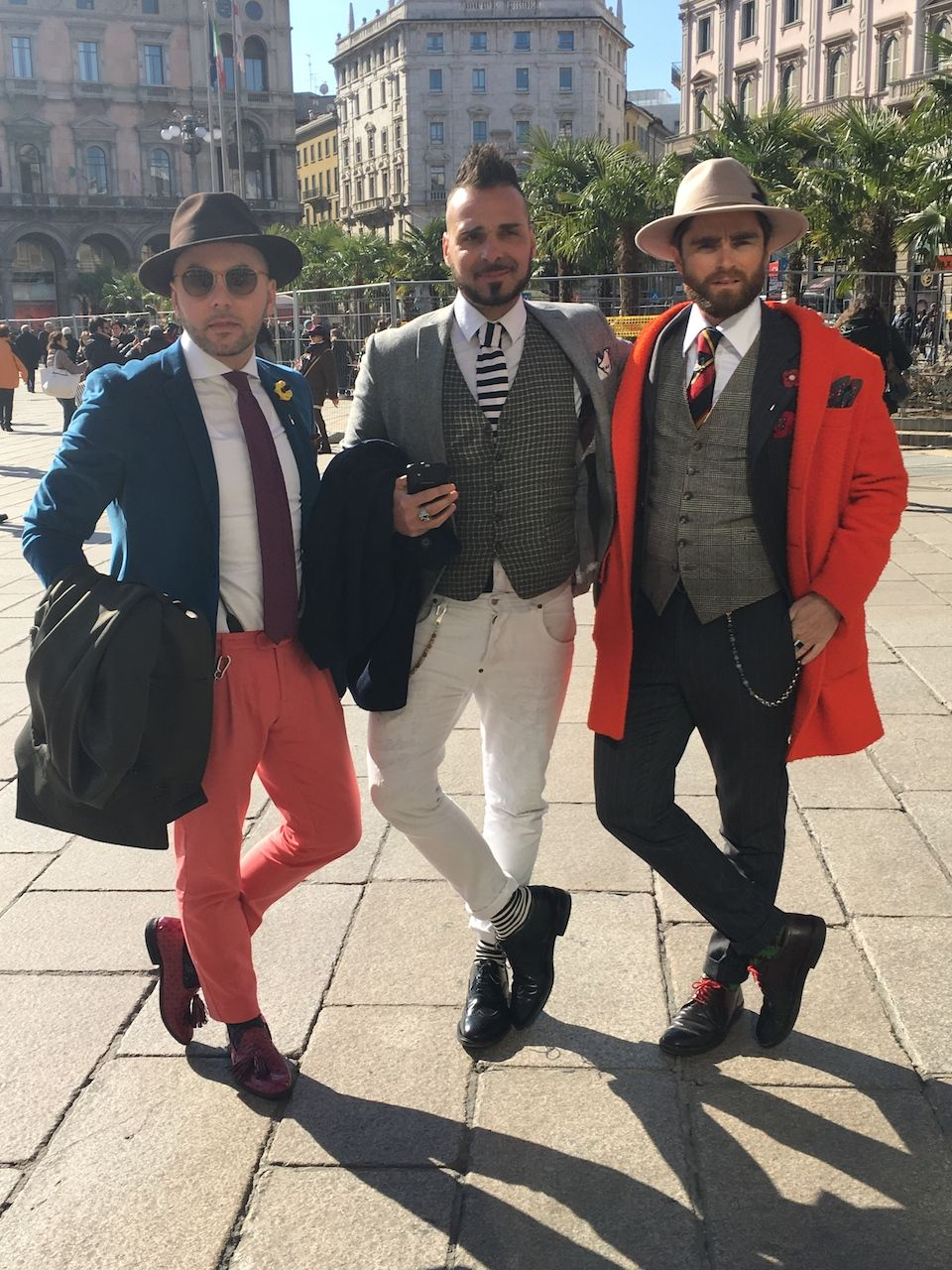Wonderful people during MFW: street style