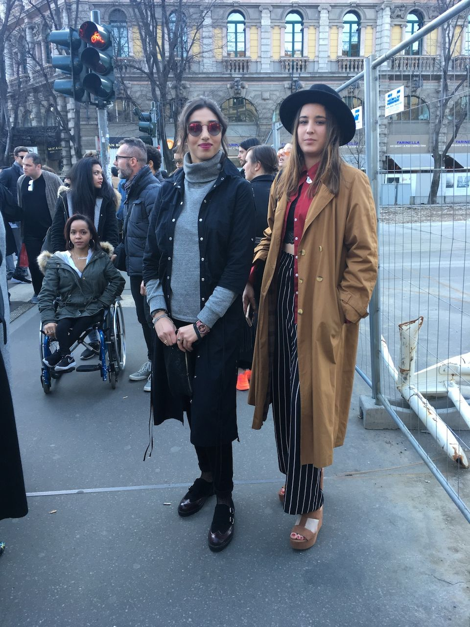 In front of Jil Sander fashion show