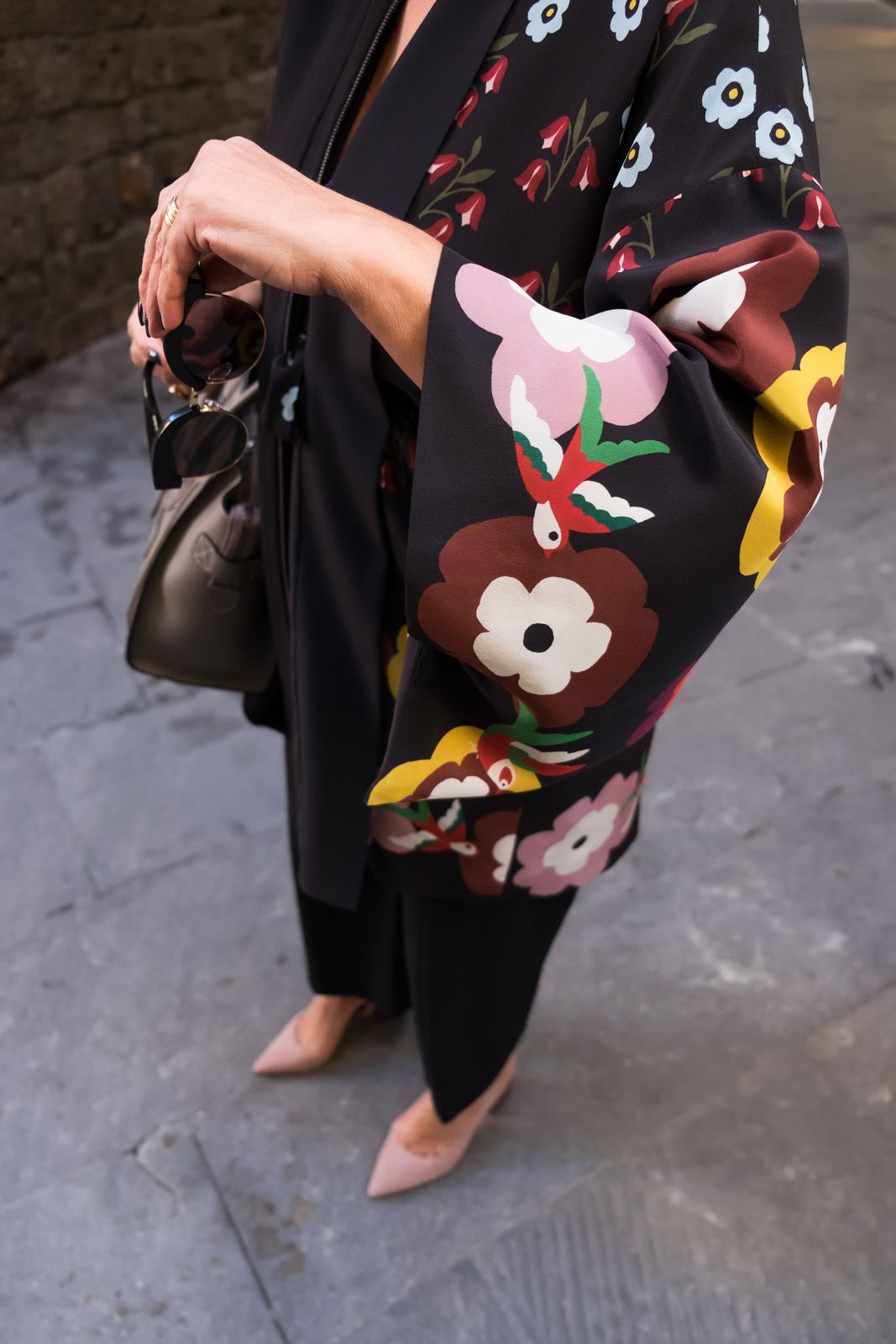 red valentino kimono