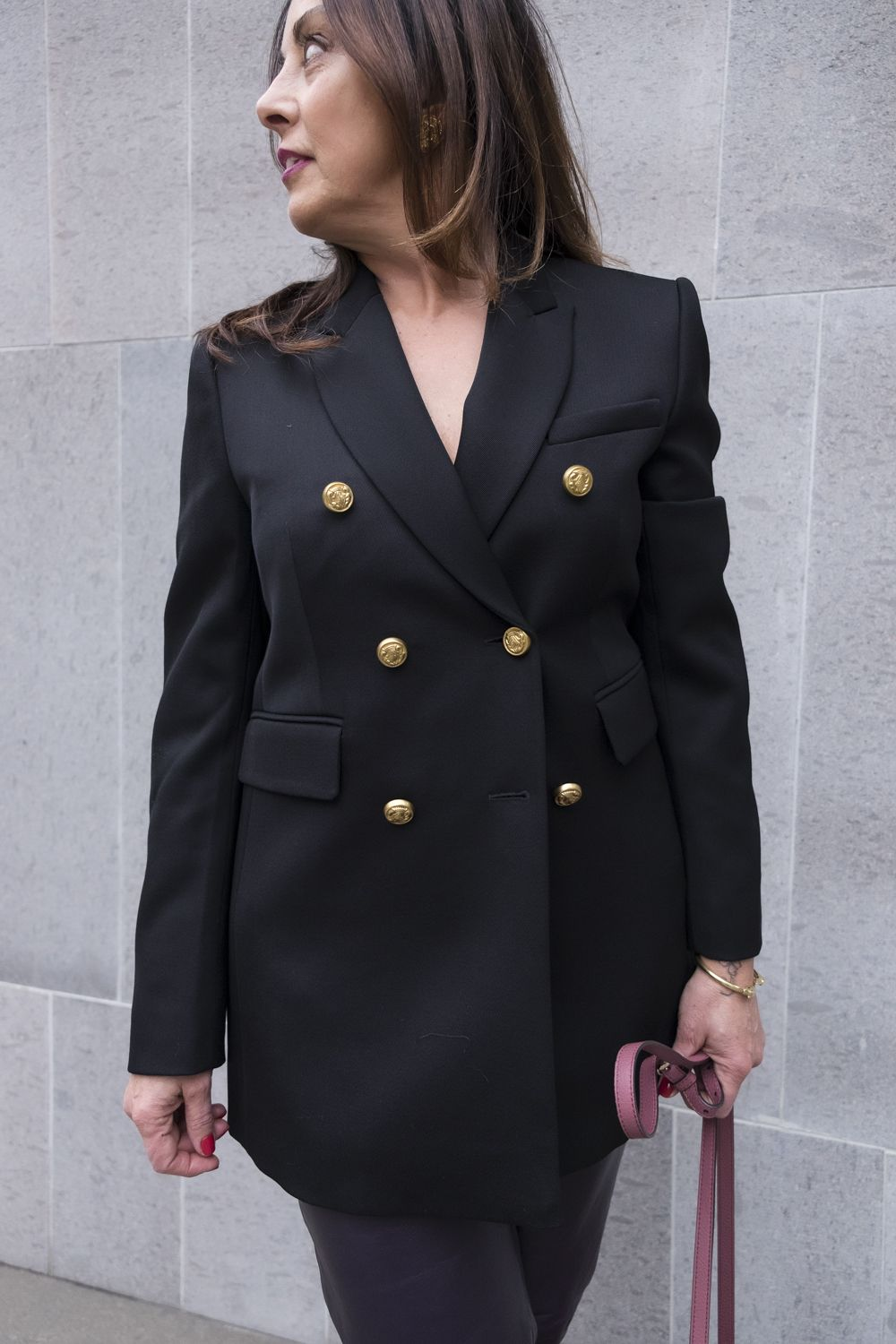 military jacket with a bra?