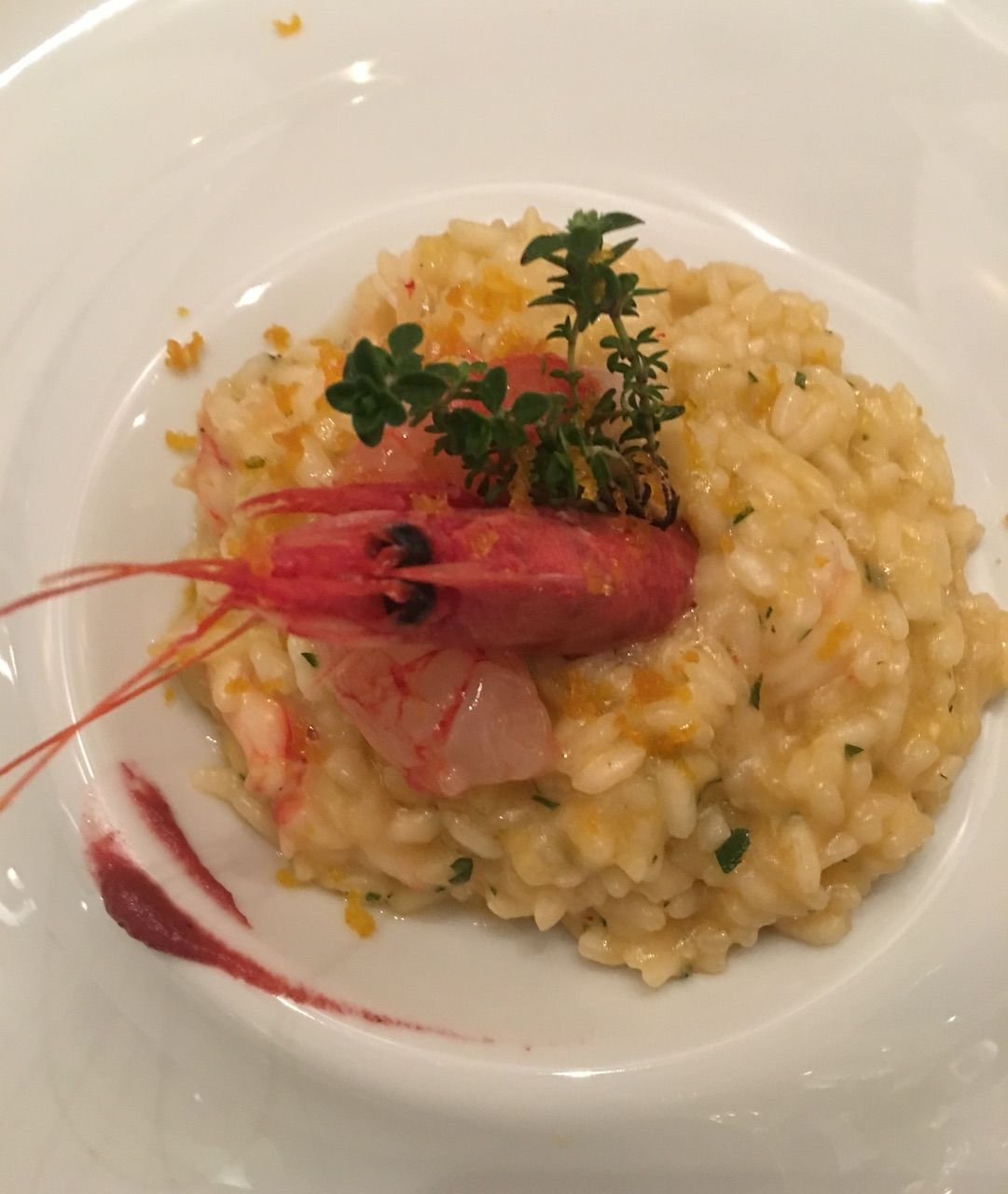 risotto con gamberi not only twenty