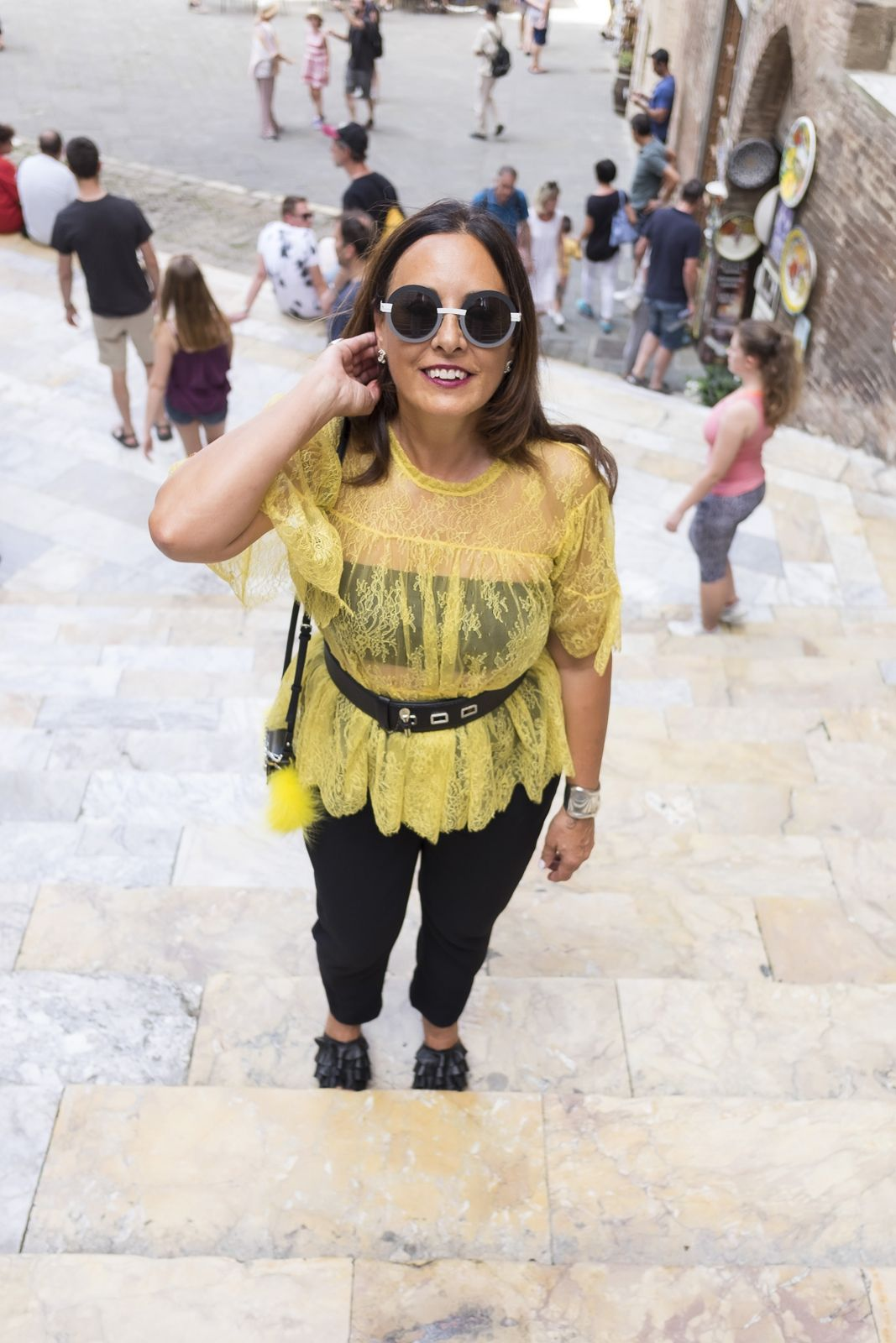 how to wear a lace top at 50 Not Only Twenty